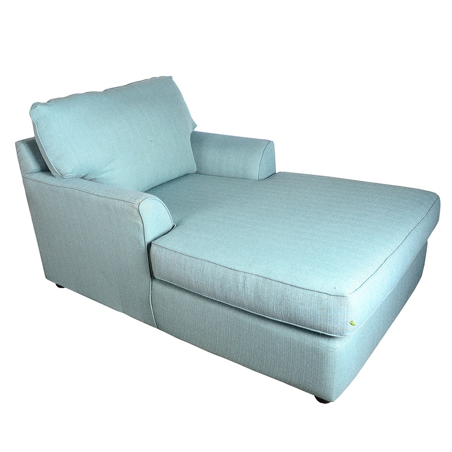 Blue Upholstered Chaise Lounge | EBTH