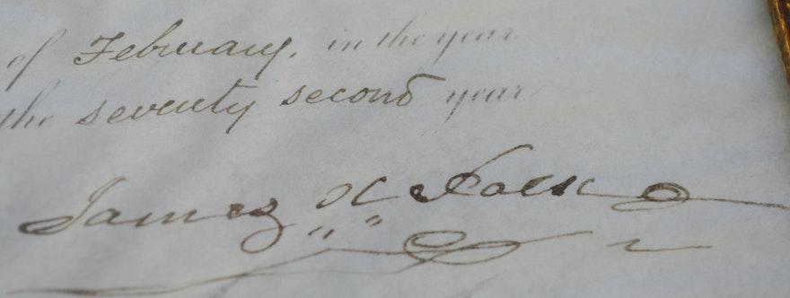 1848 Original Signed President Polk Letter of Appointment