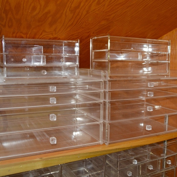 Plexiglass Storage Containers For Makeup And Jewelry ...