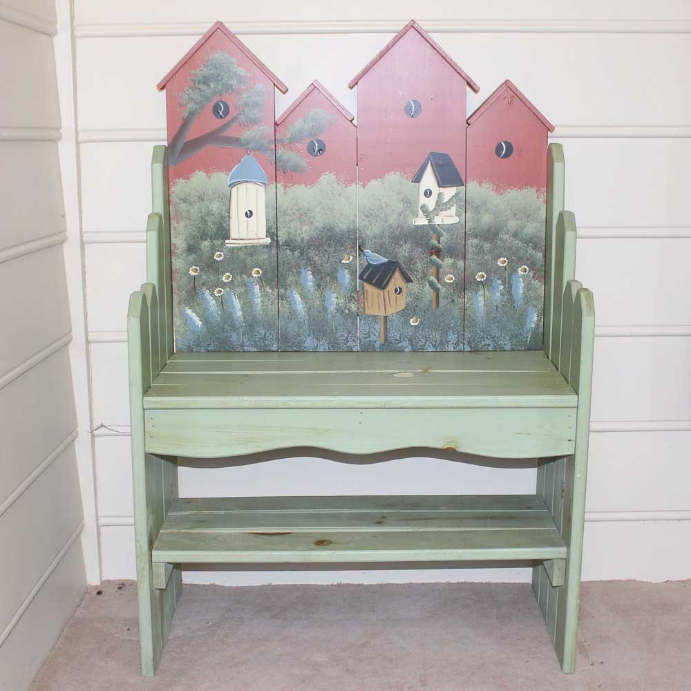 Superbe Hand Painted Garden Bench ...
