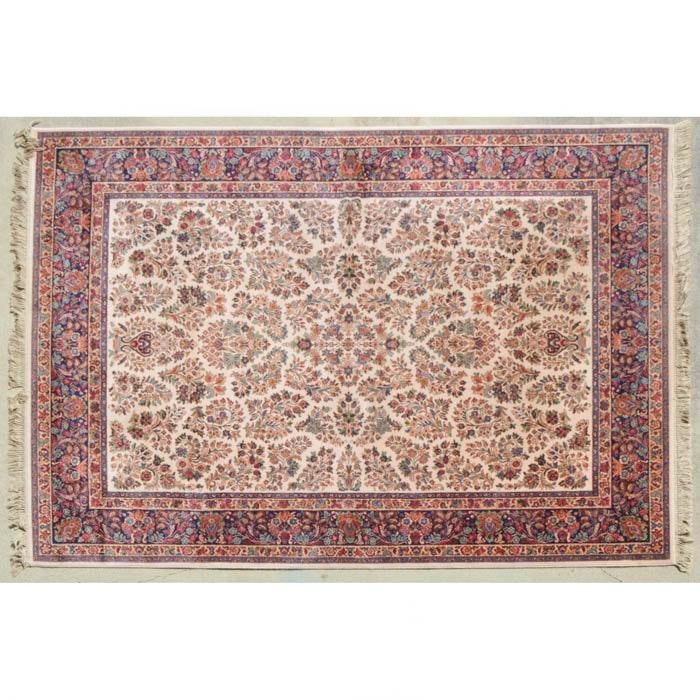 Large Karastan Ivory Sarouk Wool Area Rug