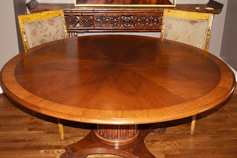 Henredon Round Dining Table in Mahogany and Four Neo  : DSC0009JPGixlibrb 11 from www.ebth.com size 1000 x 667 jpeg 134kB