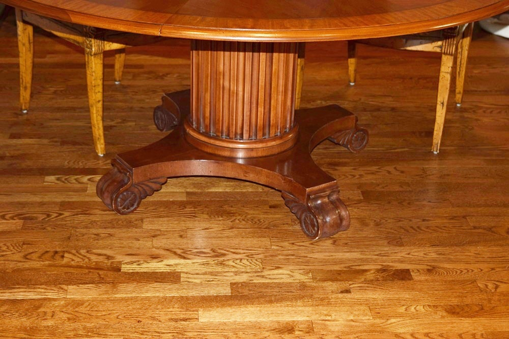 Henredon Round Dining Table in Mahogany and Four Neo  : DSC0016JPGixlibrb 11 from www.ebth.com size 1000 x 667 jpeg 165kB