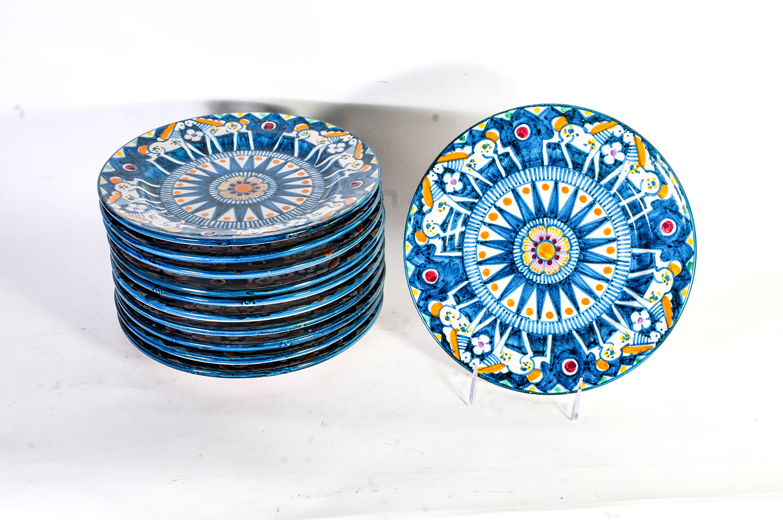 Collection of Eleven Vietri Italian Plates
