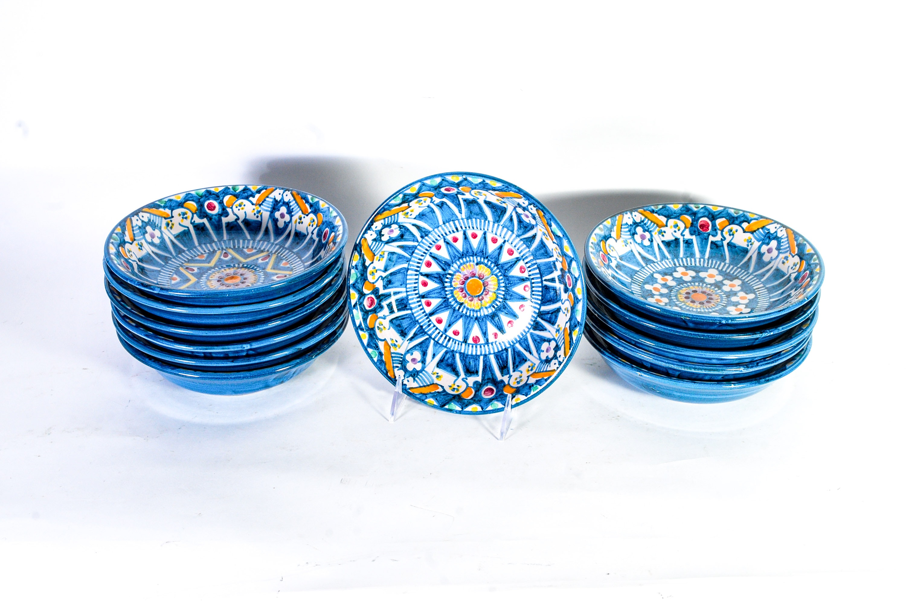 Collection of Twelve V. Pinto Italian Bowls