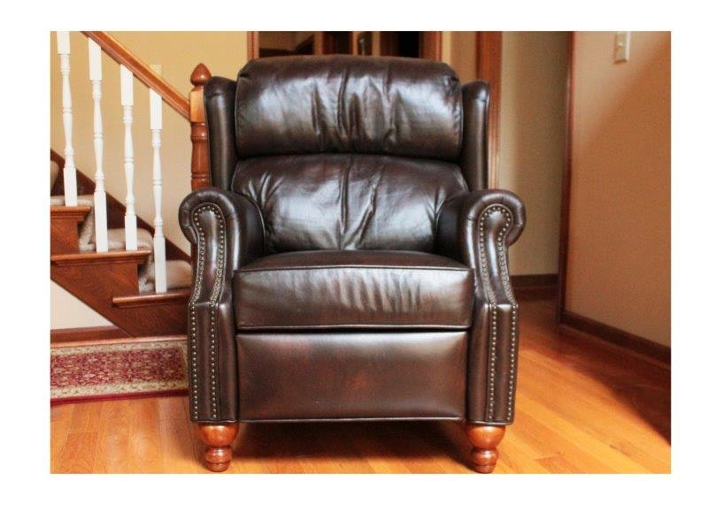 Craftmaster Leather Recliner with Nail Head Trim