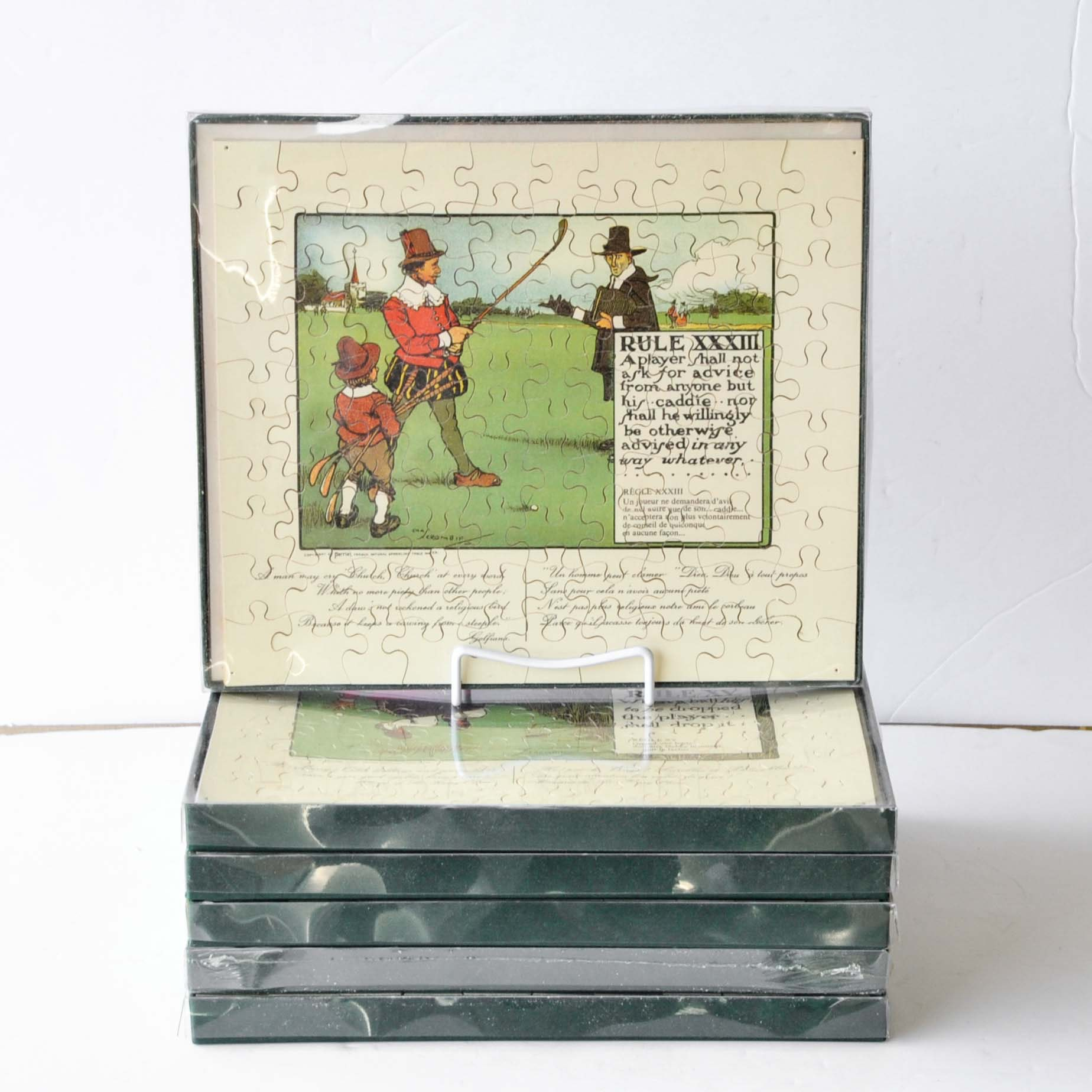 Collection of Vintage Charles Crombie Puzzles