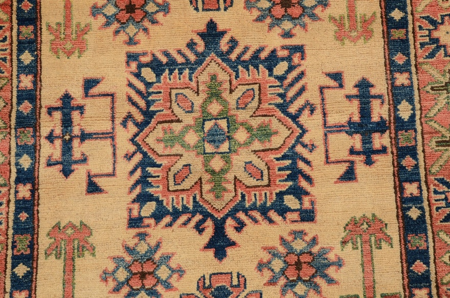 Caucasian Style Handwoven Area Rug Ebth