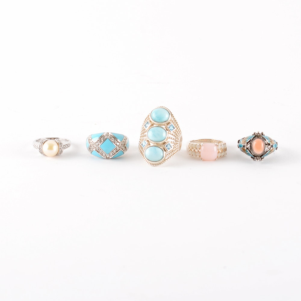 Colorful Sterling Silver Ring Collection