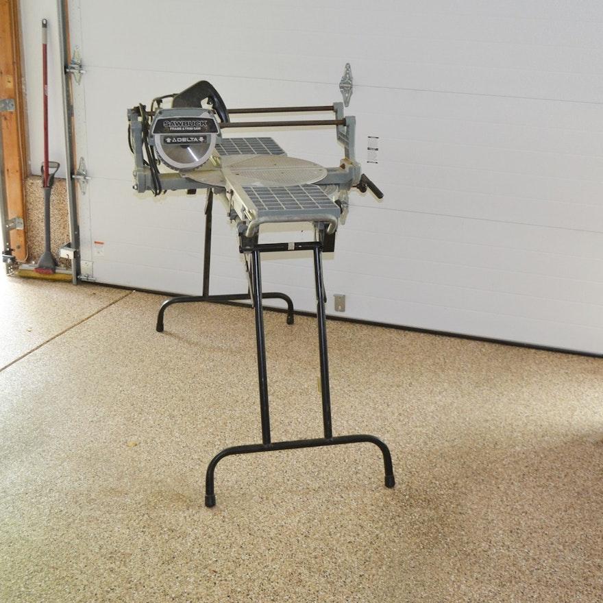 Delta Sawbuck Frame & Trim Saw : EBTH