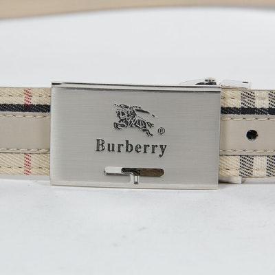 826e7715ef70 Burberry Signature Plaid Belt