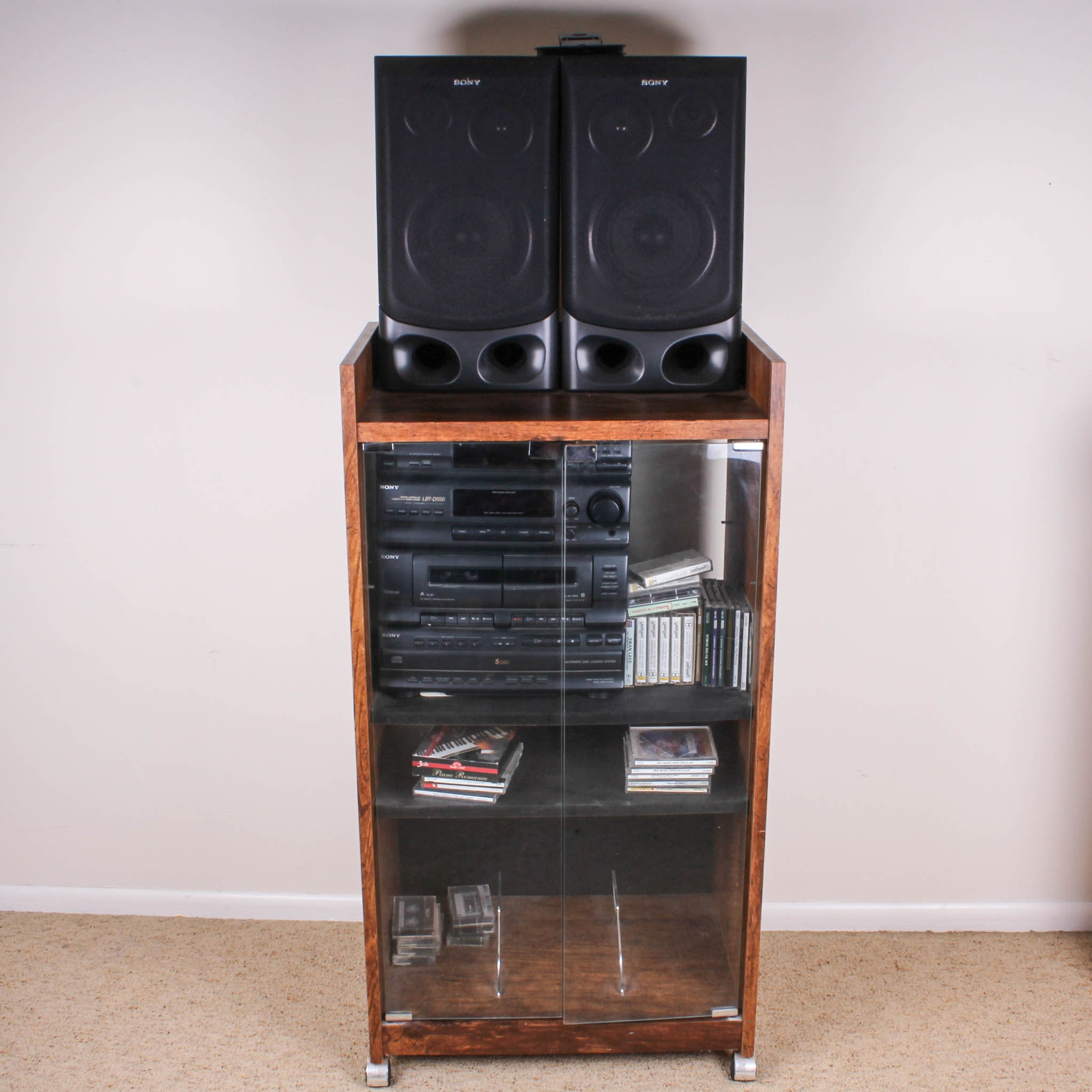 Sony Stereo System With Cabinet ...