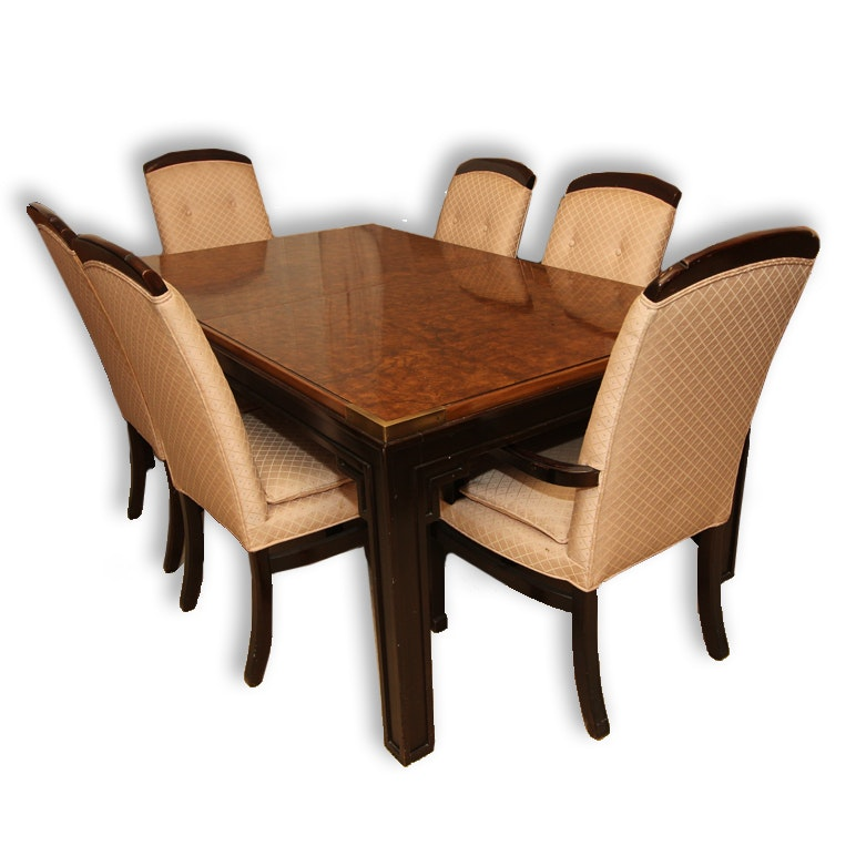Asian Inspired Dining Room Table and Chairs