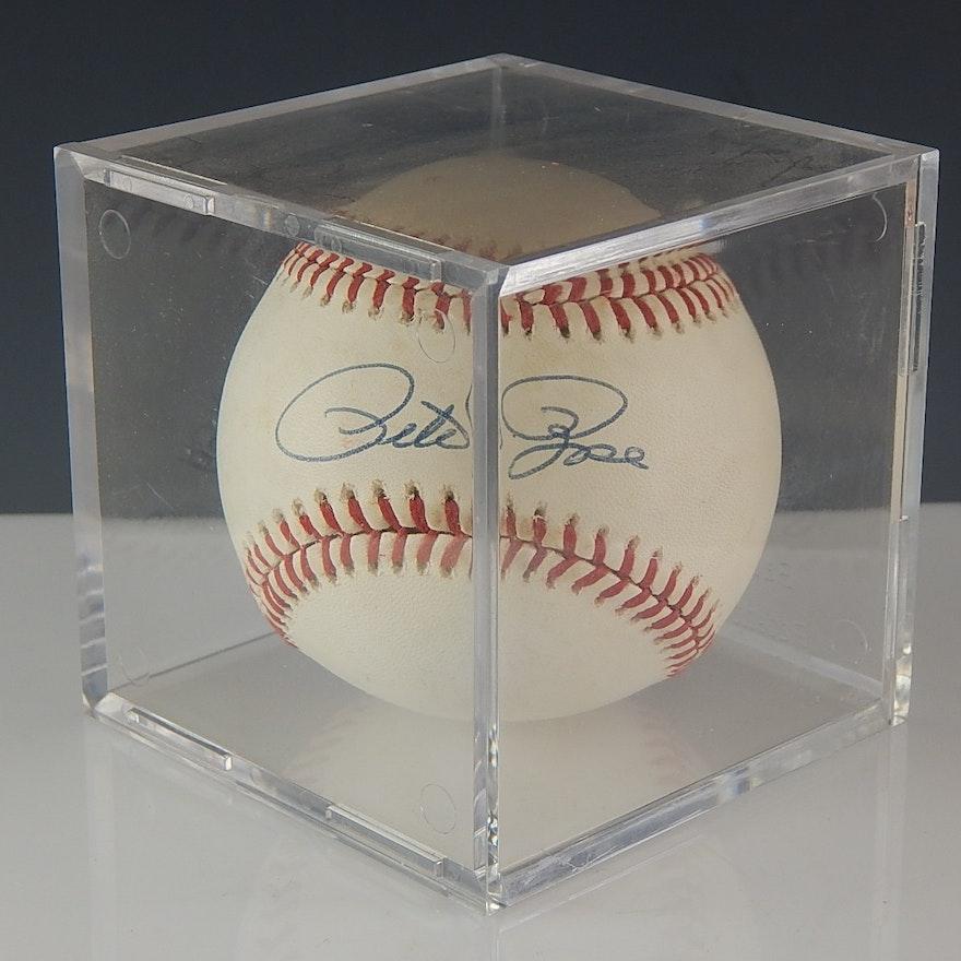 1af198e12bb Pete Rose Signed Baseball   EBTH