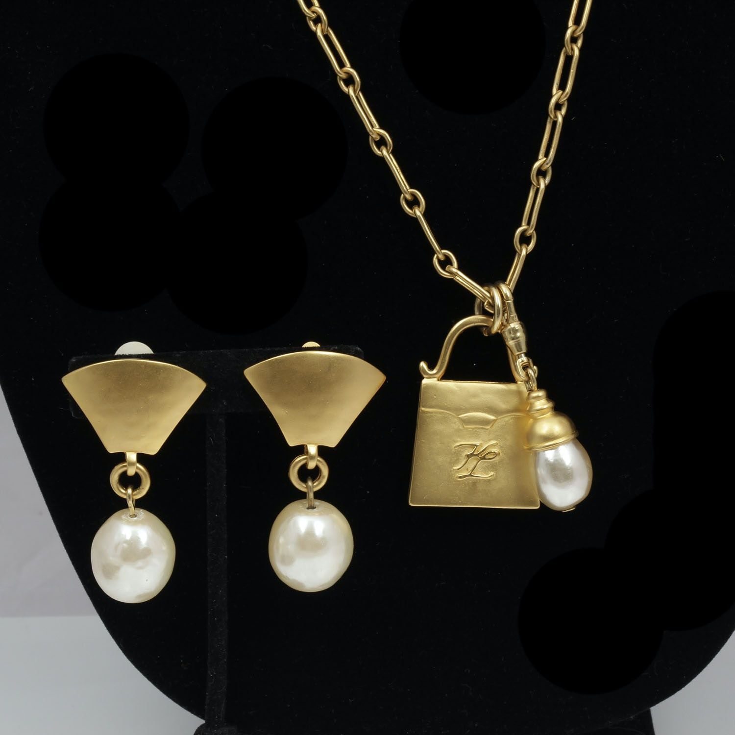 Vintage Karl Lagerfeld Necklace and Earring Set