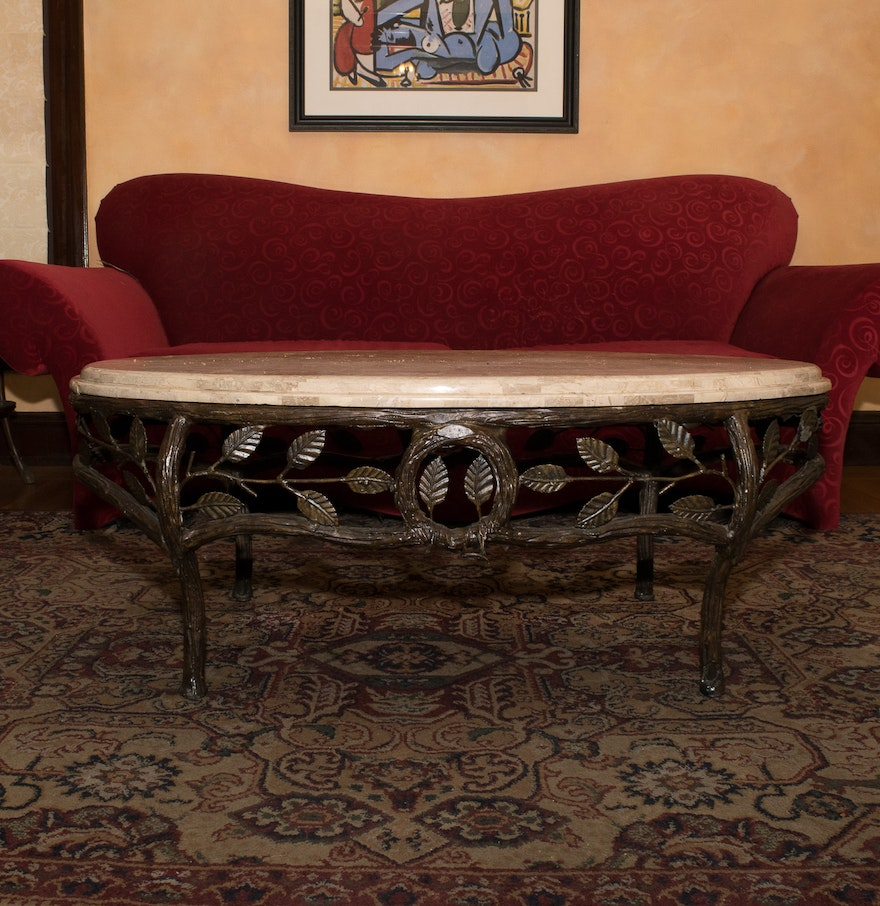 Faux Stone Top Coffee Table : EBTH