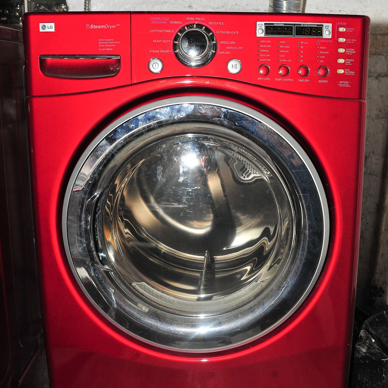 LG Steam Dryer in Red