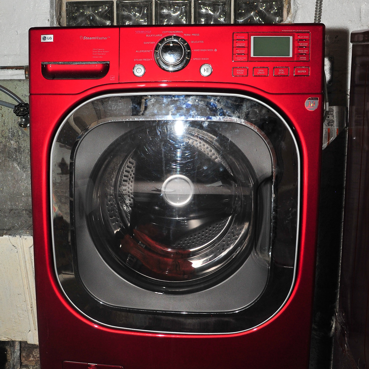 LG Steam Washer in Red