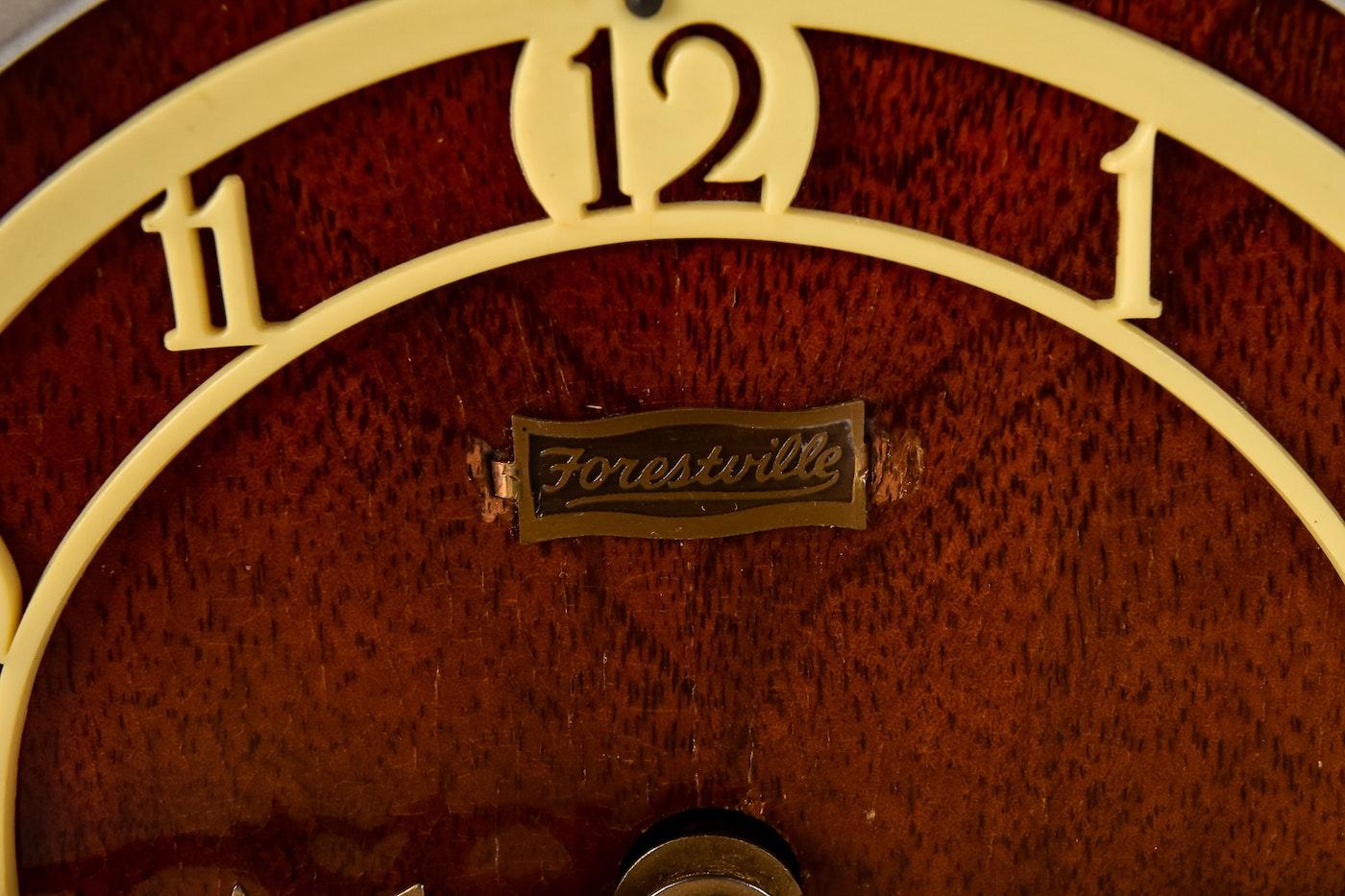 Art Deco Style Forestville Mantle Clock Ebth