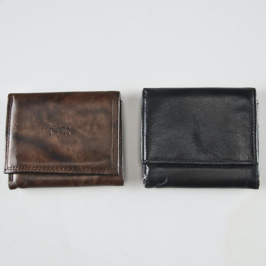 f1e36939 Two Leather Men's Wallets Including Saint Laurent