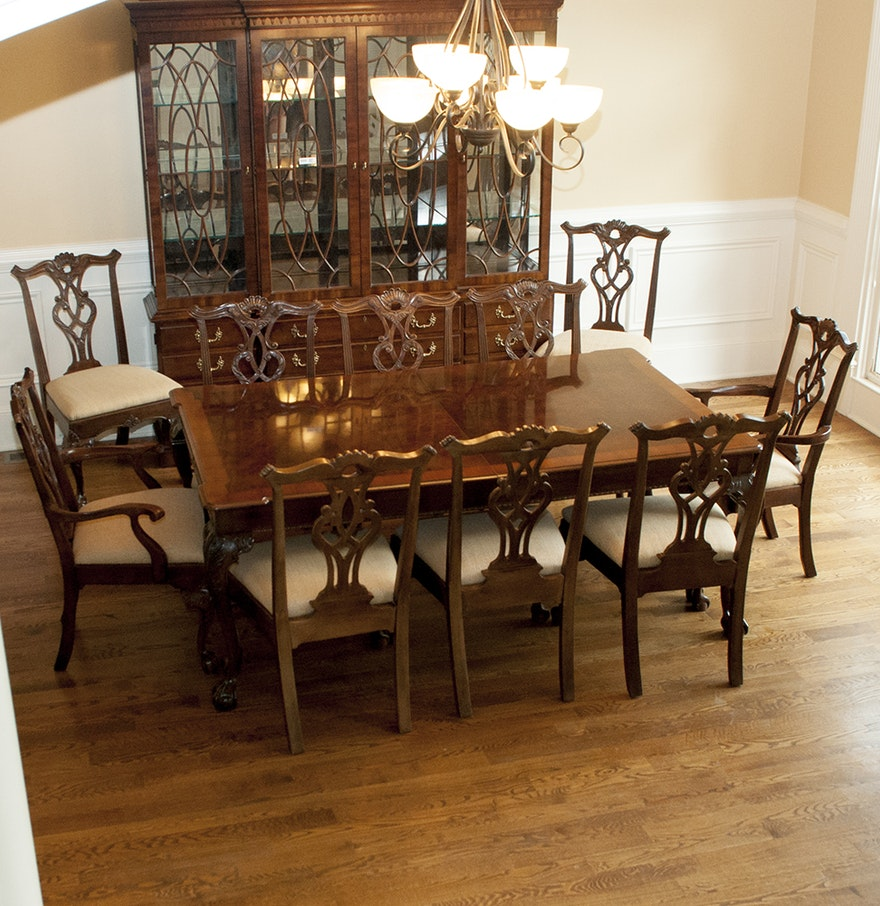 Henredon Rittenhouse Square Collection Dining Table with Matching ...