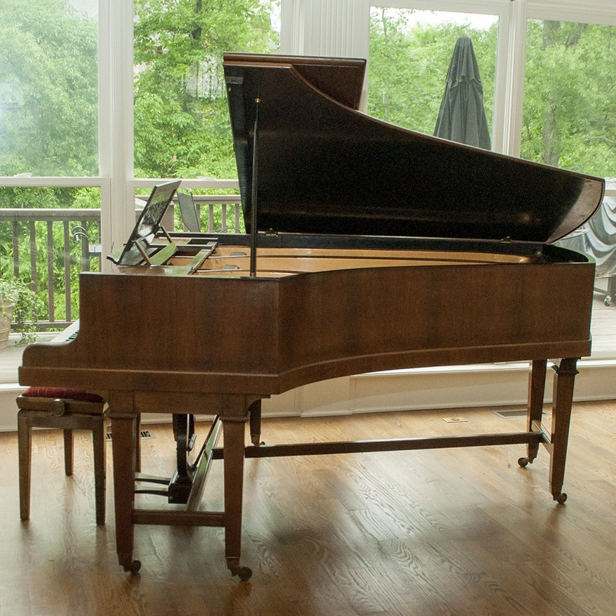 Rare 1897 Broadwood & Sons Grand Piano with Piano Bench