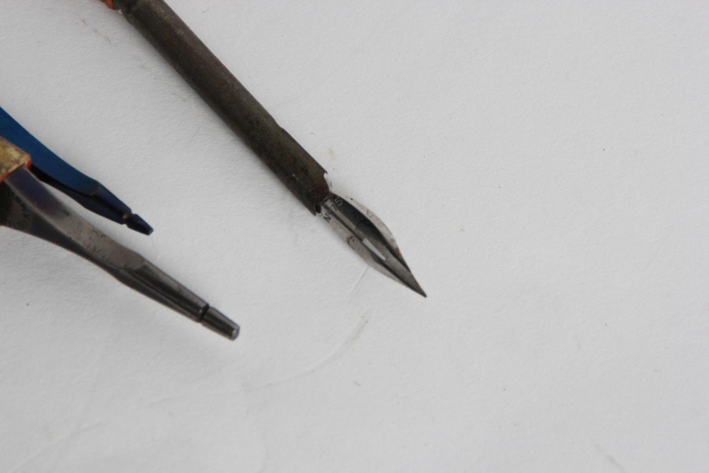 Three Vintage Calligraphy Pens Ebth