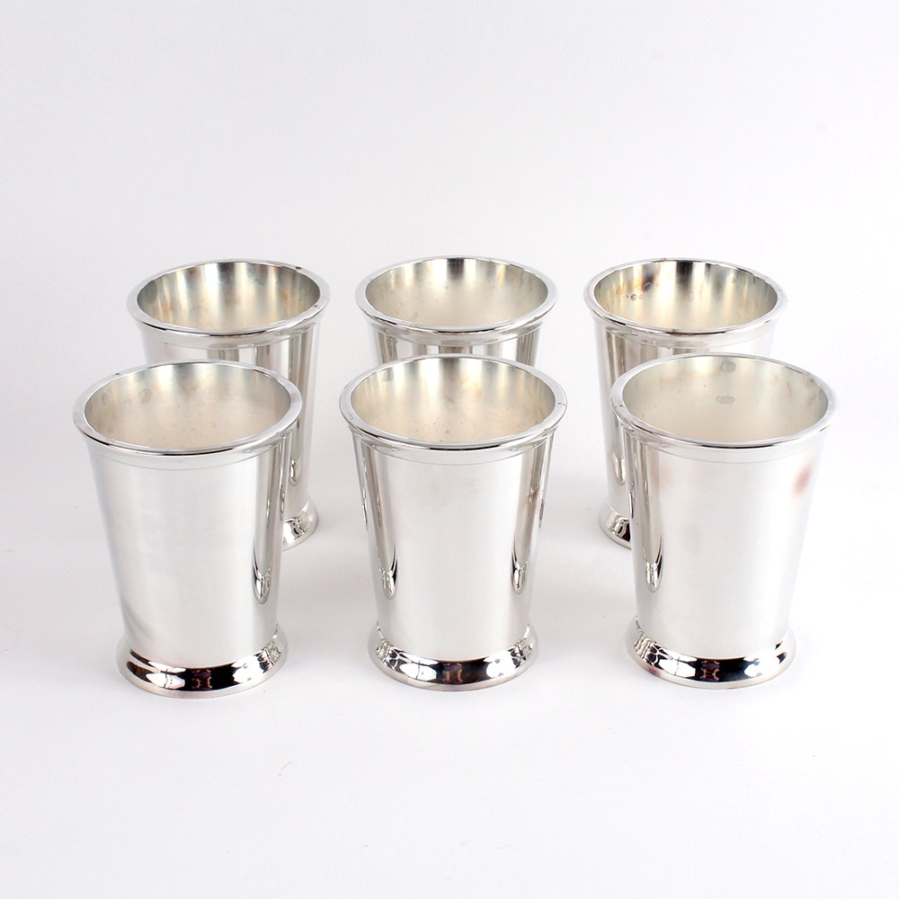 silver company silver plated mint julep cups