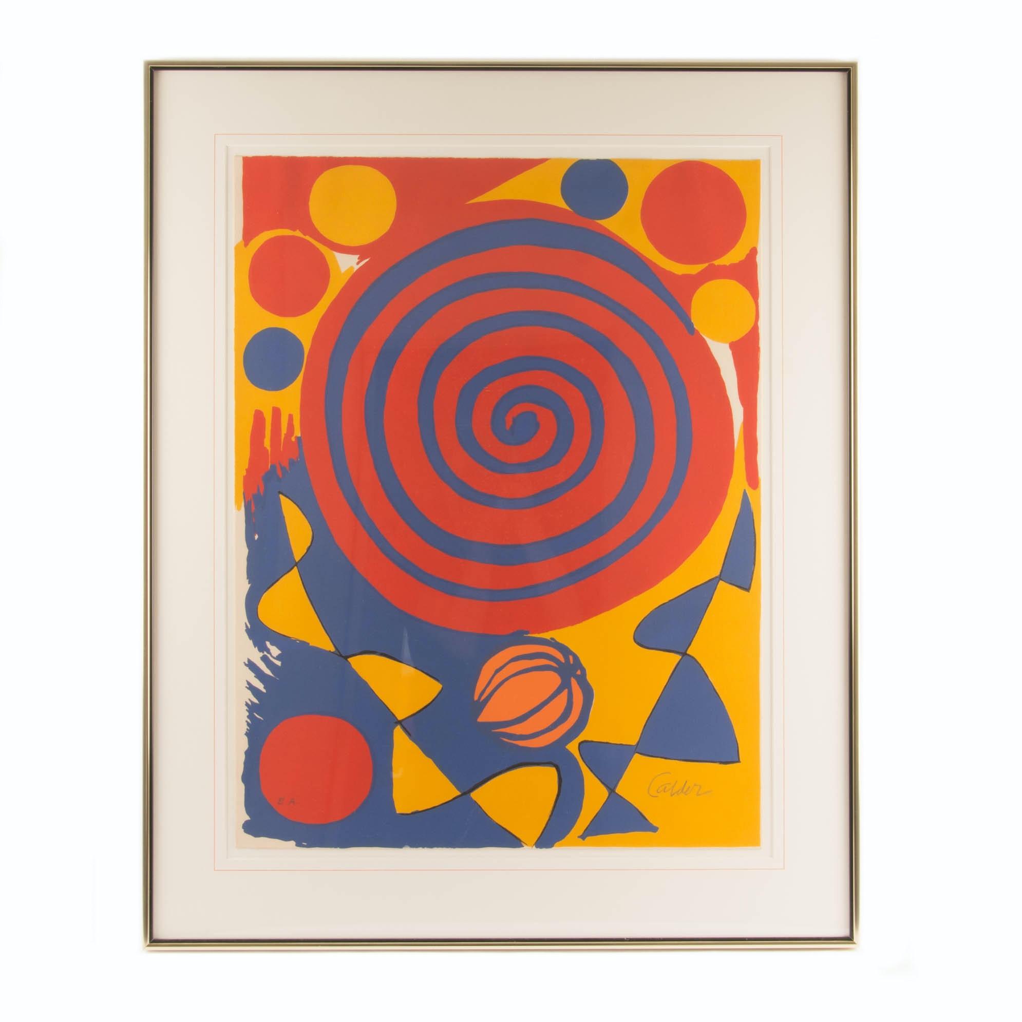 Alexander Calder Signed Lithograph Print