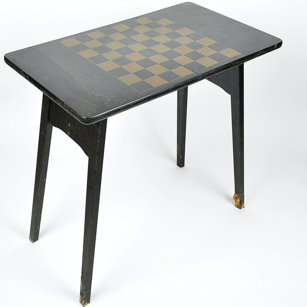 Vintage Howe Folding Chess Table ...
