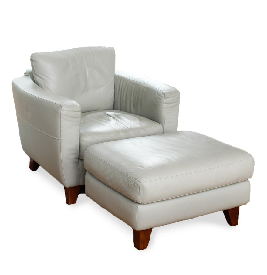 Italsofa Leather Chair And Ottoman Loop Sofa