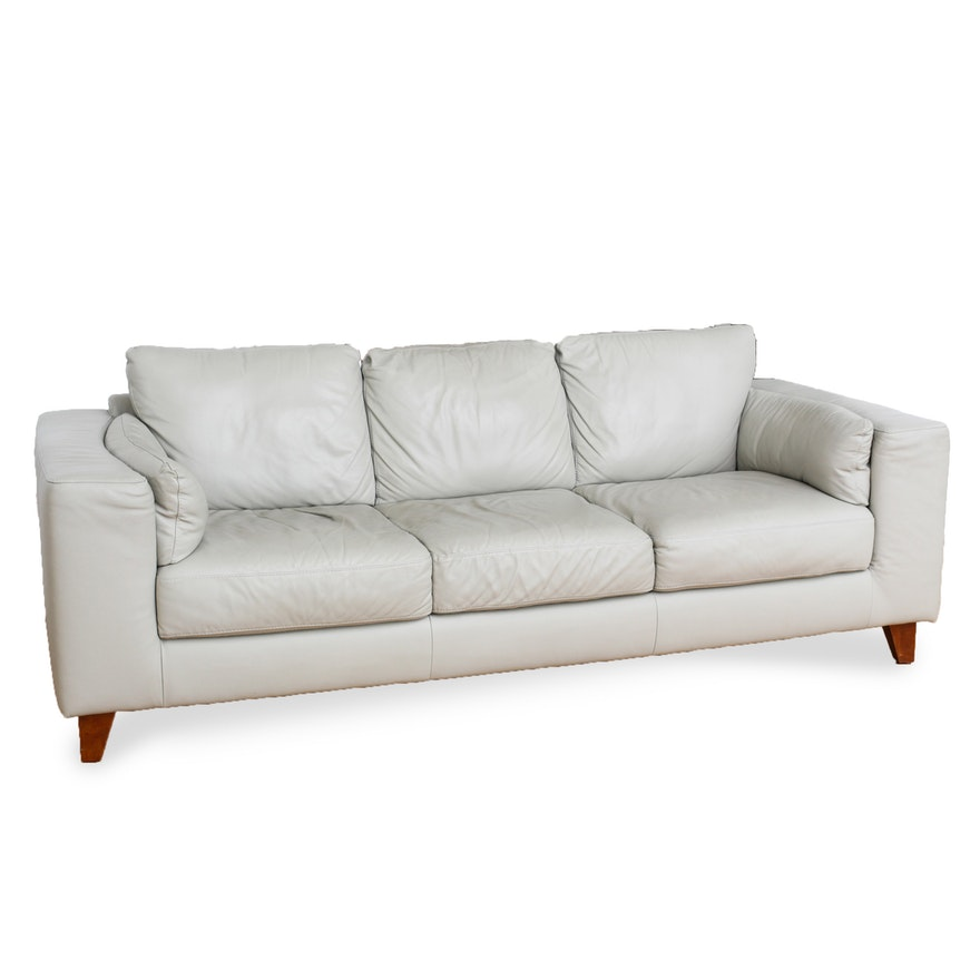 Italsofa Leather Sofa From Sprintz Furniture Nashville Ebth