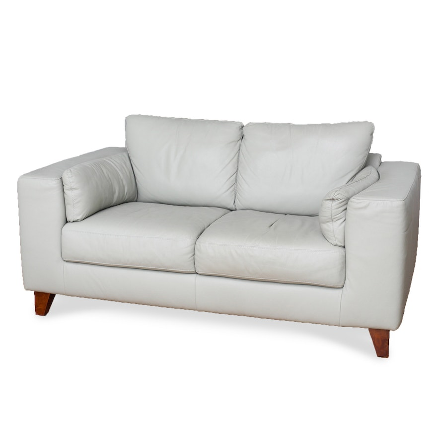 Italsofa Leather Contemporary Loveseat From Sprintz Furniture Ebth