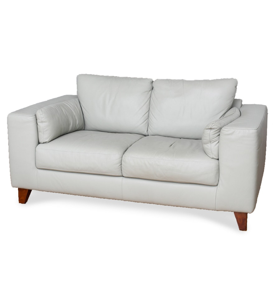 Italsofa leather contemporary loveseat from sprintz for Small sectional sofa nashville