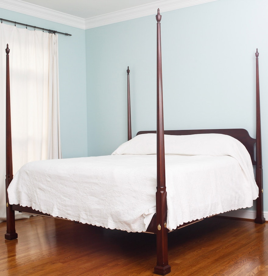 Sheraton Style Henkel Harris King Size Four Poster Bed Ebth