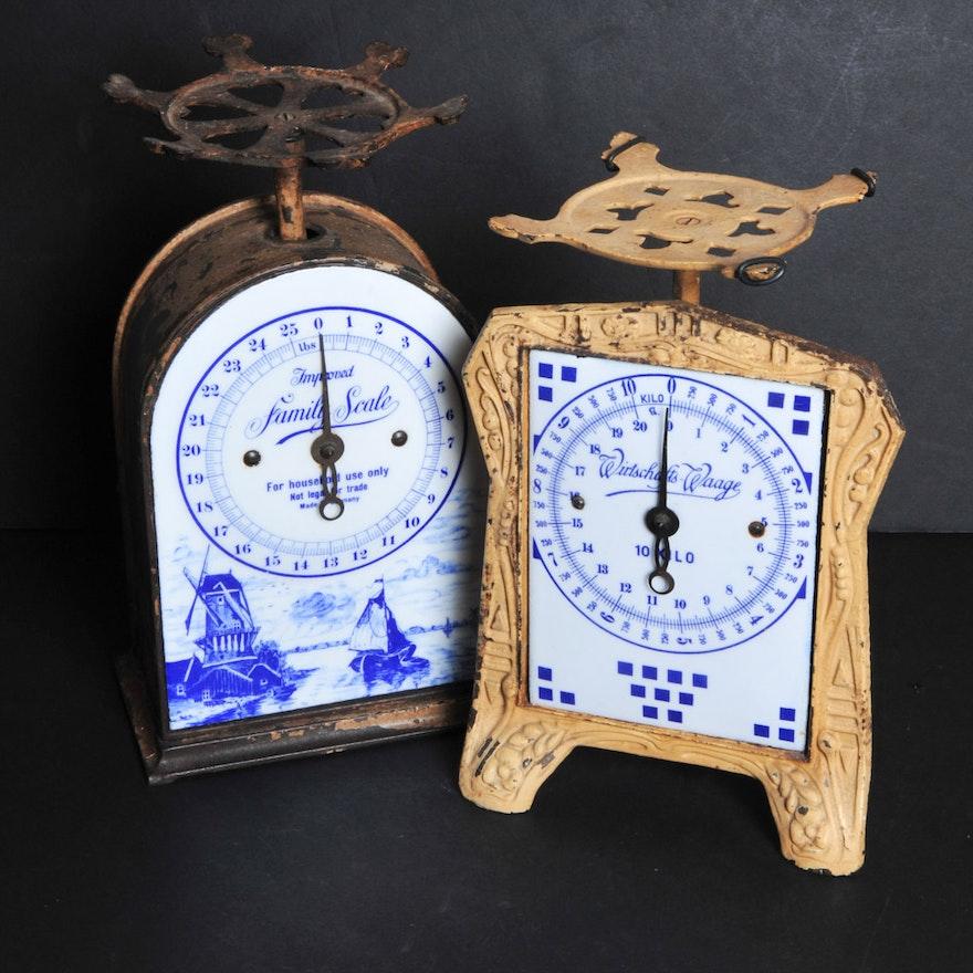 Pair Of Vintage Kitchen Scales Ebth