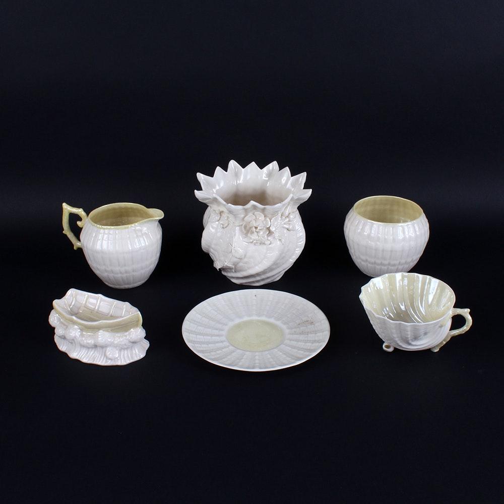 Collection of Belleek Neptune Pattern Bone China
