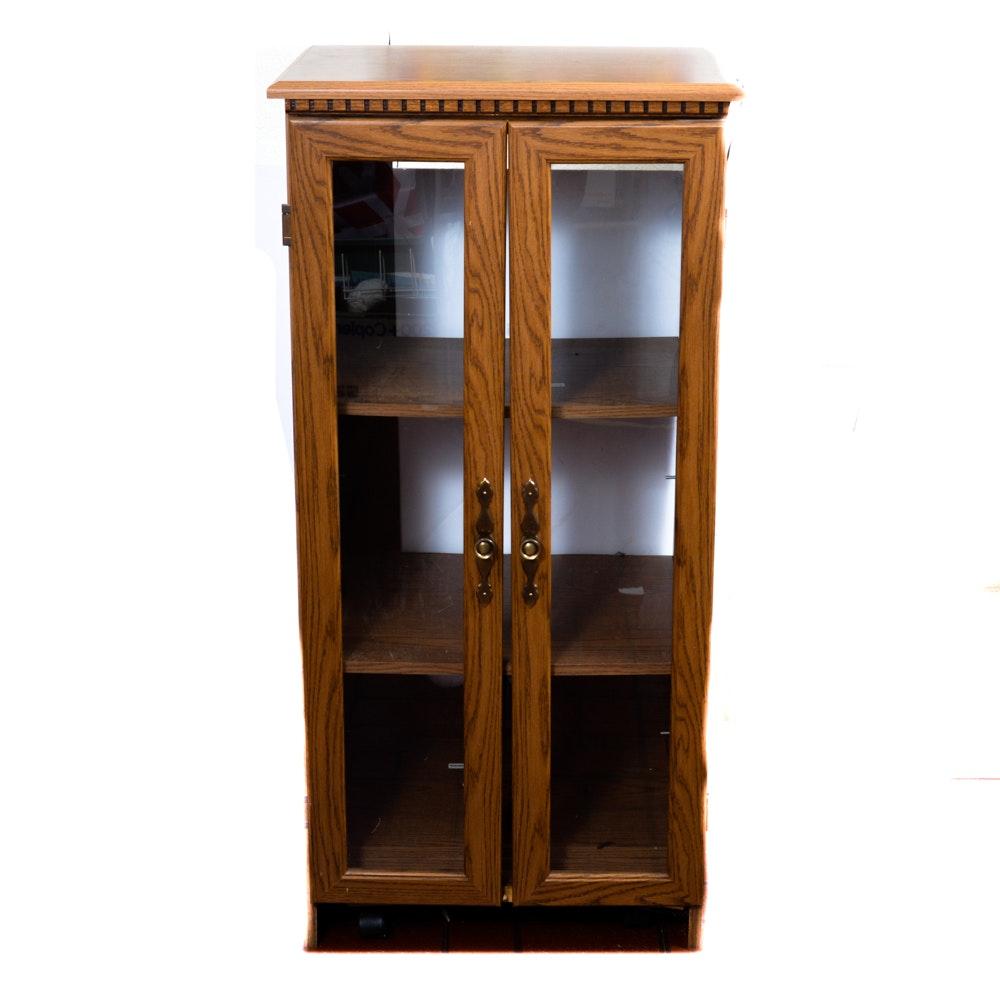Composite Board Glass Door Cabinet : EBTH