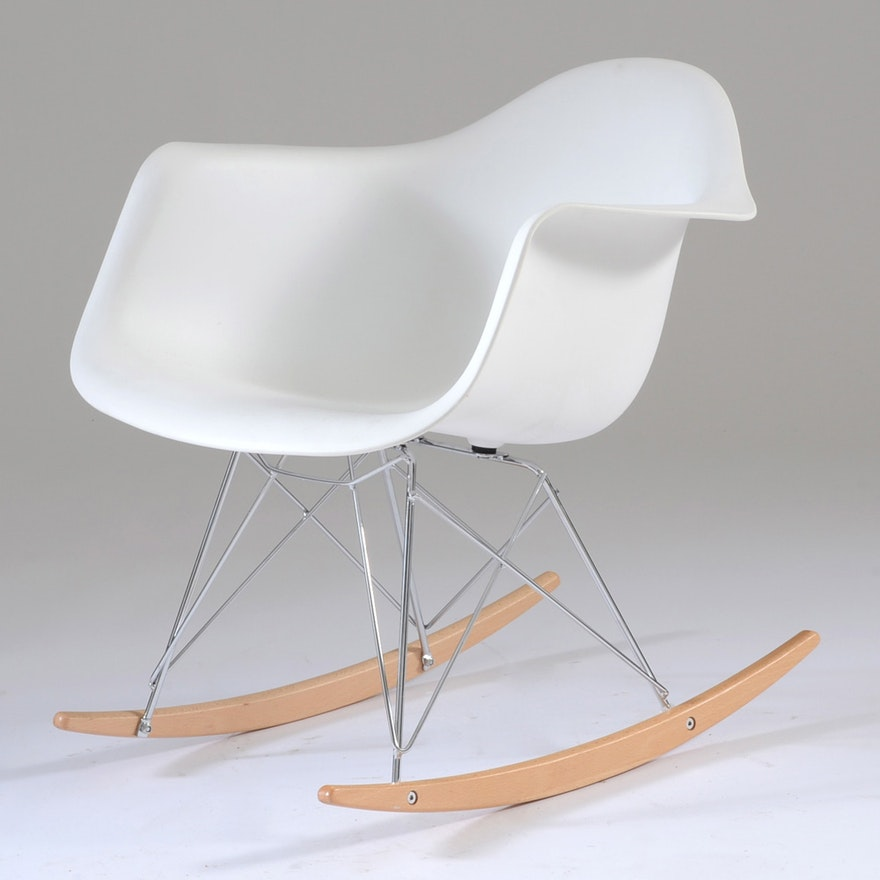 Eames Style Tulip Rocking Chair Ebth