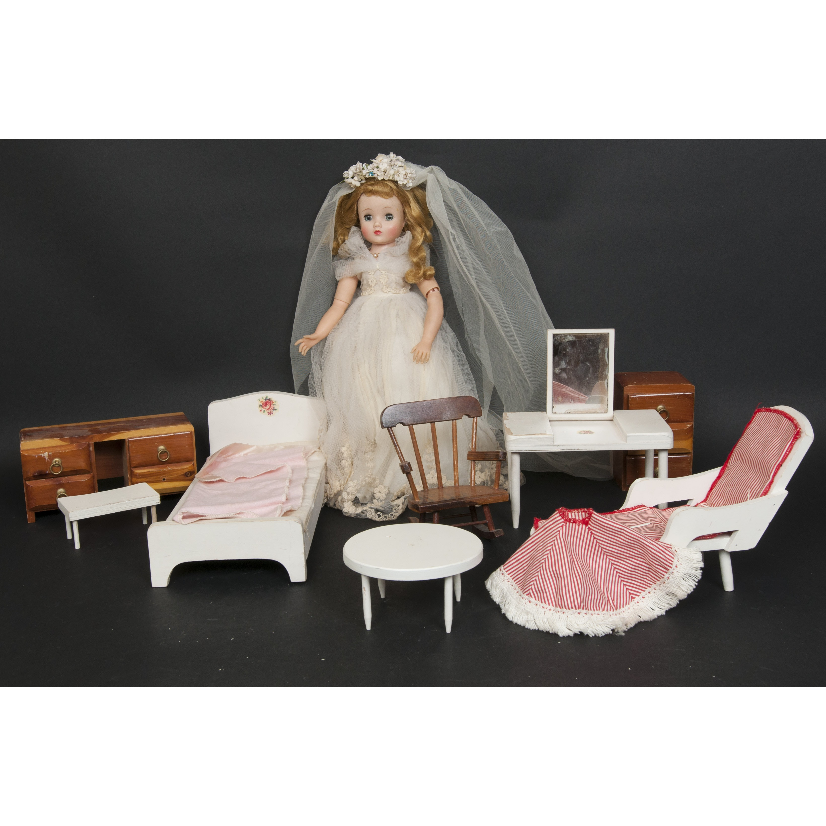 Vintage Doll House Furniture And Madame Alexander Doll ...