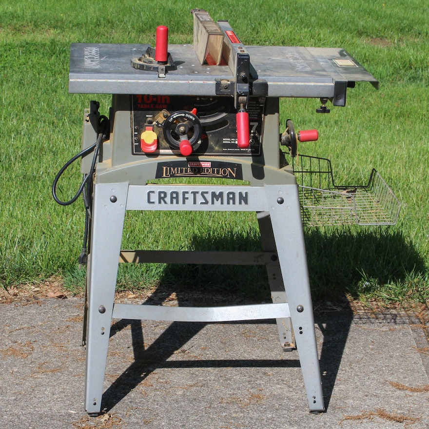 Vintage Limited Edition Craftsman 10 39 39 Table Saw Ebth