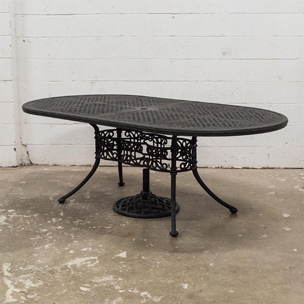 Woodard Landgrave Wrought Iron Patio Table ...
