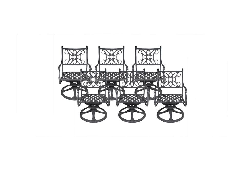 Woodard Landgrave Metal Patio Chair Set ...