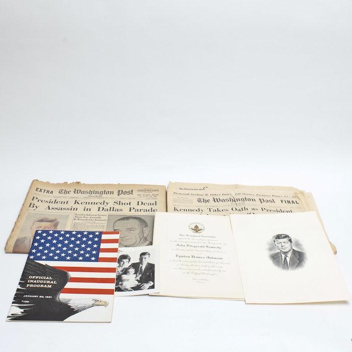Grouping of John F. Kennedy Memorabilia
