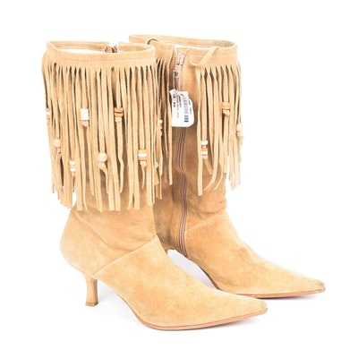 Bronx Fringed Suede Leather Boots
