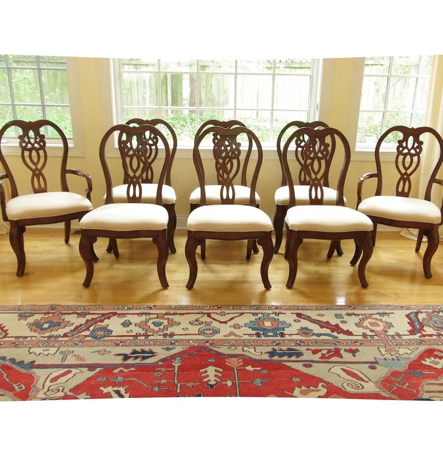 Set Of 8 Cresent Furniture Regent 39 S Park Dining Chairs EBTH