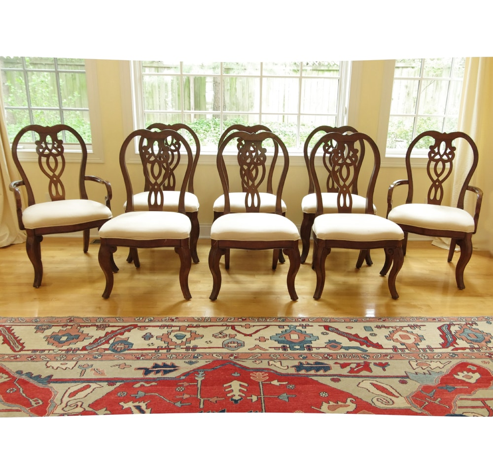 set of 8 cresent furniture park dining chairs
