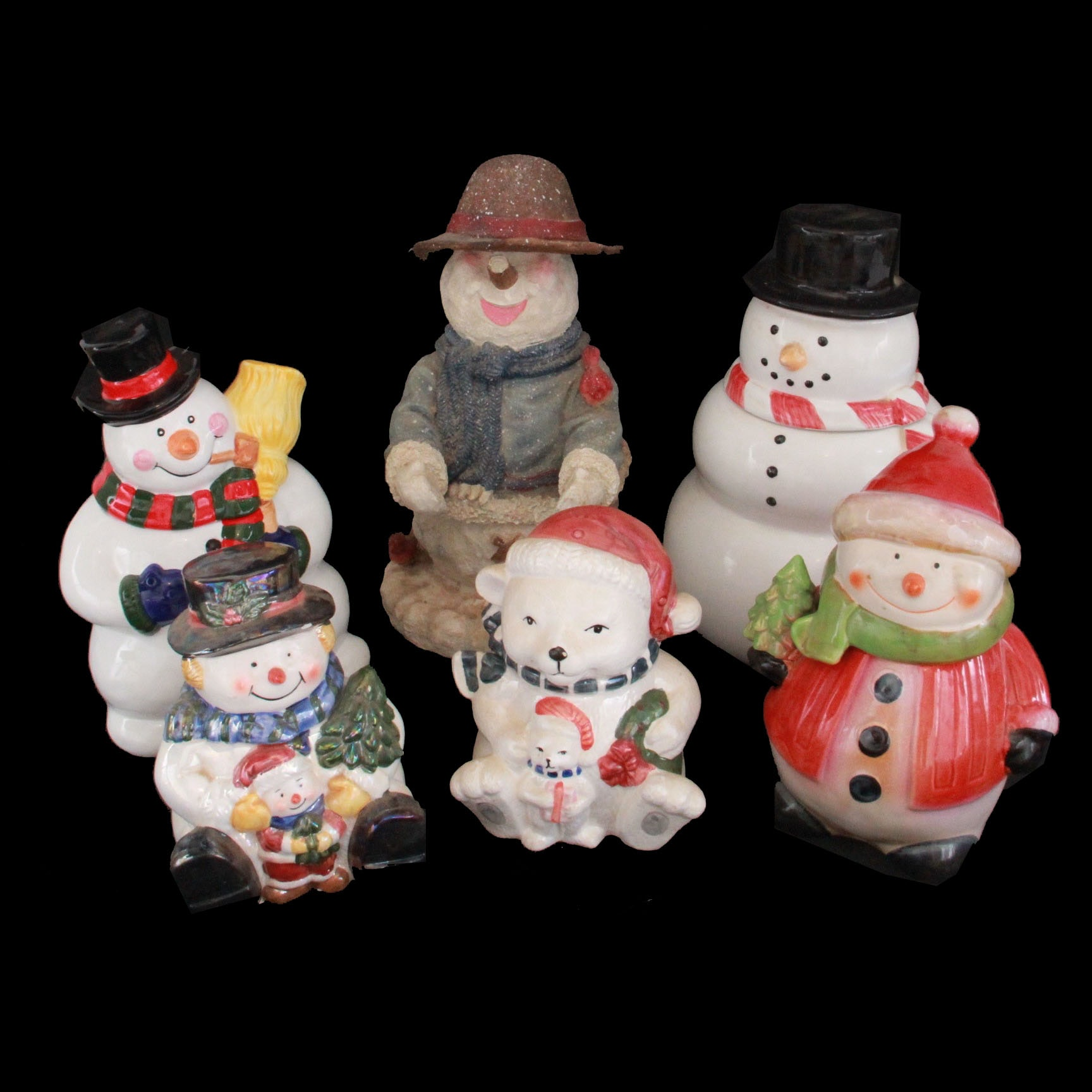 Snowman Cookie Jars and Decor