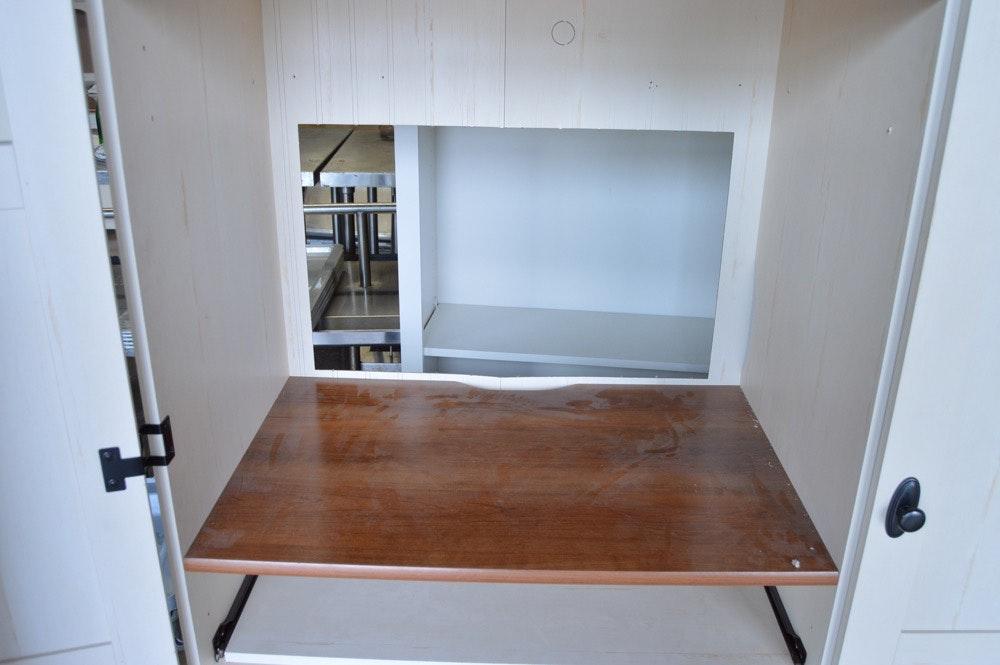 Christopher Lowell Shore Armoire Desk Ebth