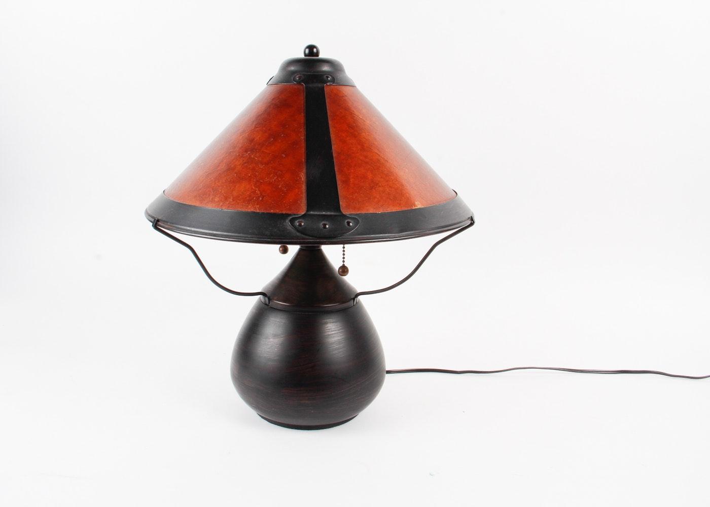Craftsman Style Table Lamp Ebth